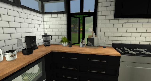 Audrina Black and White Kitchen at Pandasht Productions image 776 Sims 4 Updates