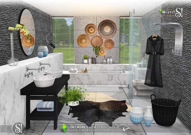Mix It! bathroom set at SIMcredible! Designs 4 image 7811 670x474 Sims 4 Updates