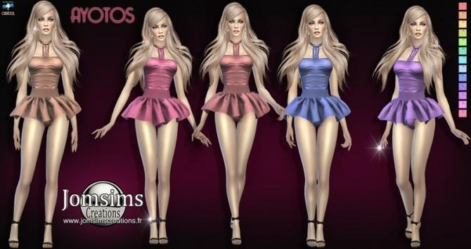Sims 4 Ayotos dress at Jomsims Creations