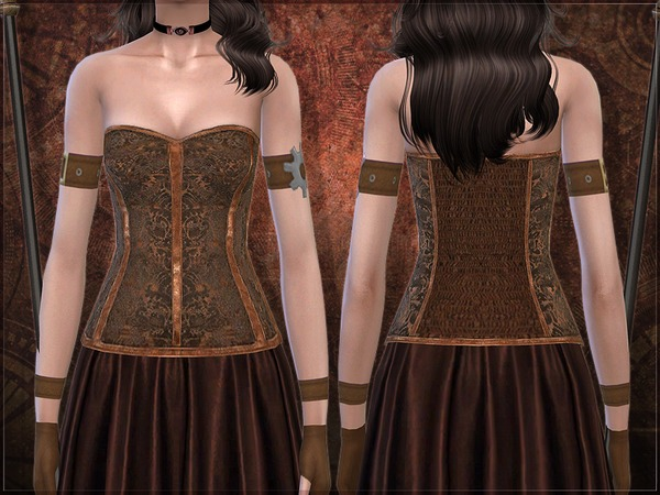 Sims 4 Taxa corset by RemusSirion at TSR