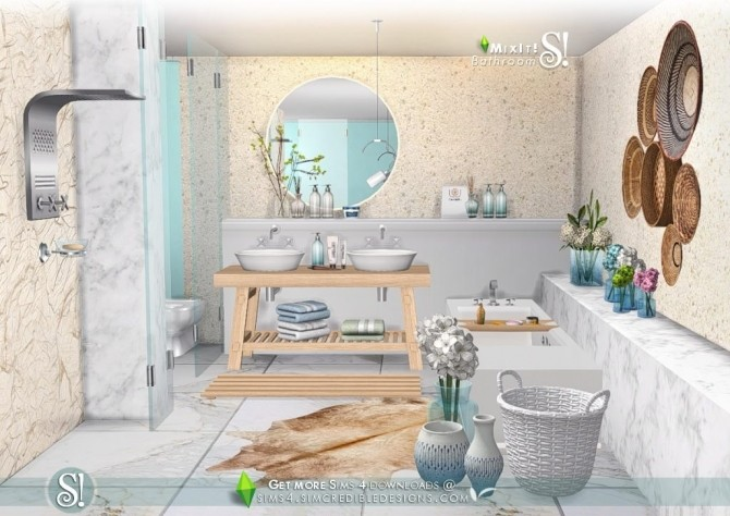 Mix It! bathroom set at SIMcredible! Designs 4 image 7912 670x474 Sims 4 Updates