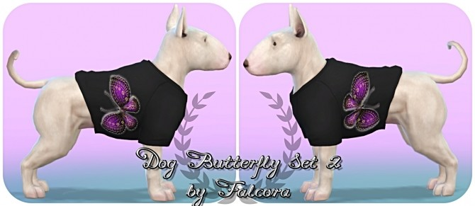 Butterfly set 10x set 2 For small dog at Petka Falcora image 7913 670x291 Sims 4 Updates