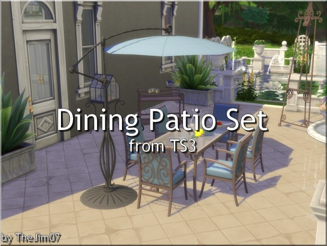 Sims 4 Dining Patio Set from TS3 by TheJim07 at Mod The Sims