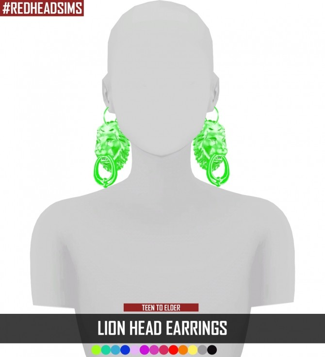 LION HEAD EARRINGS at REDHEADSIMS – Coupure Electrique image 794 670x736 Sims 4 Updates