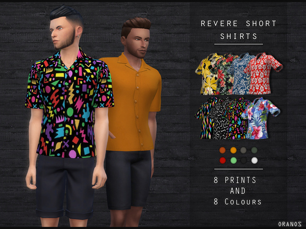 Sims 4 Revere Short Shirts by OranosTR at TSR