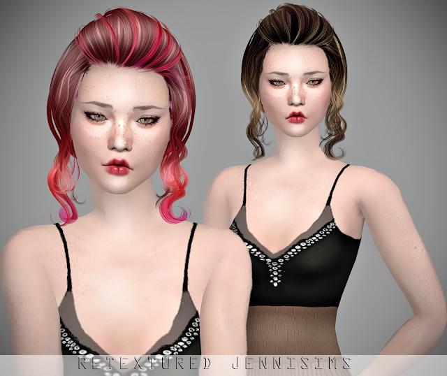 Sims 4 Newsea Candice Hair retexture at Jenni Sims