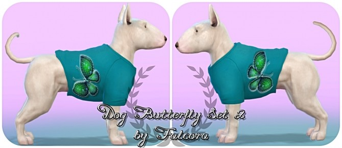 Butterfly set 10x set 2 For small dog at Petka Falcora image 8013 670x291 Sims 4 Updates