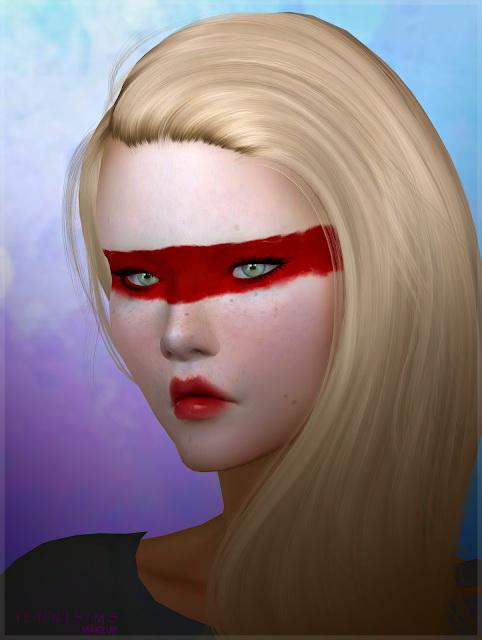 Sims 4 EyeShadow Kabuki Red at Jenni Sims
