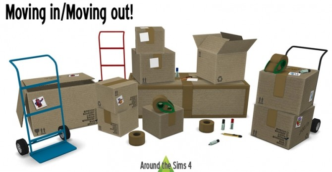 Sims 4 Moving in/Moving out set by Sandy at Around the Sims 4