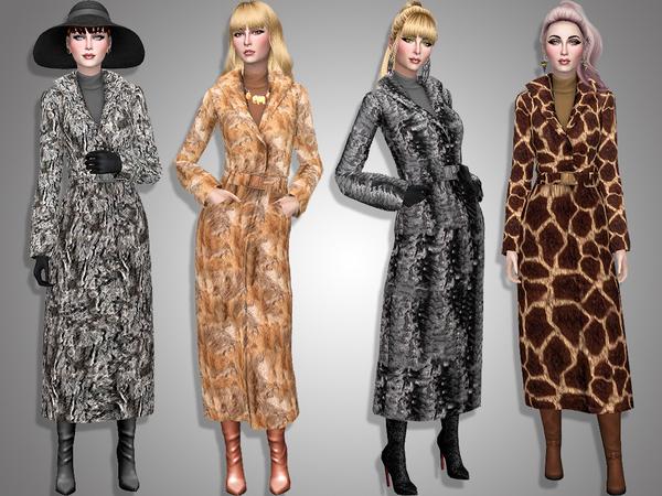 Sims 4 Faux fur coat by Simalicious at TSR