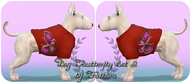 Butterfly set 10x set 2 For small dog at Petka Falcora image 8116 670x291 Sims 4 Updates