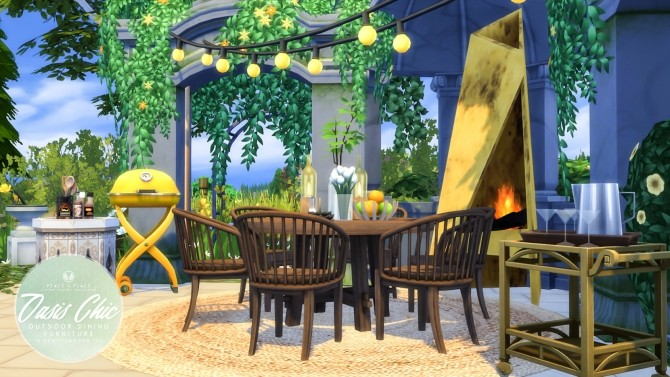 Oasis Chic Dining Outdoor Furniture Set at Simsational Designs image 8217 670x377 Sims 4 Updates