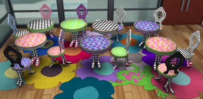PrincessBliss Dining Table and Chair by BigUglyHag at SimsWorkshop image 8220 670x327 Sims 4 Updates