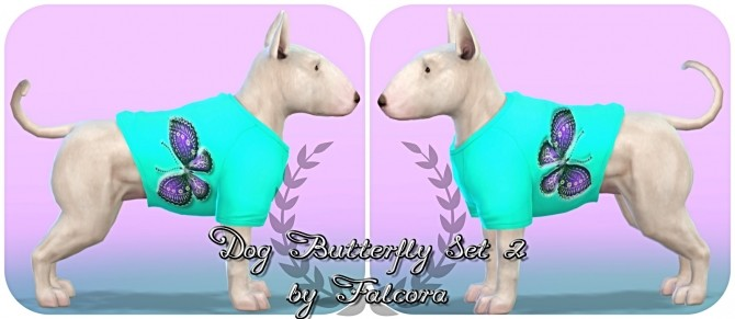 Butterfly set 10x set 2 For small dog at Petka Falcora image 8313 670x291 Sims 4 Updates
