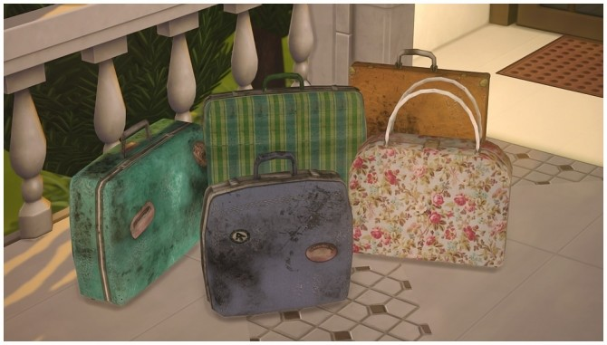 Old Battered Luggage and Stacks of Old Papers at Josie Simblr image 8411 670x381 Sims 4 Updates