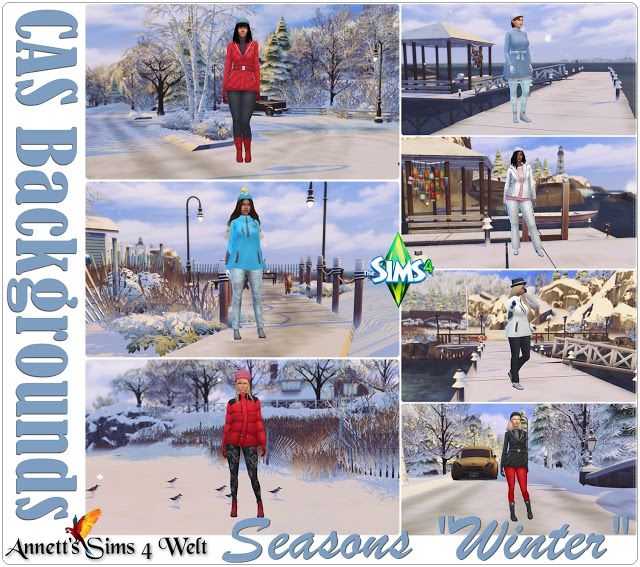 CAS Backgrounds Seasons Winter at Annett's Sims 4 Welt image 8417 Sims 4 Updates