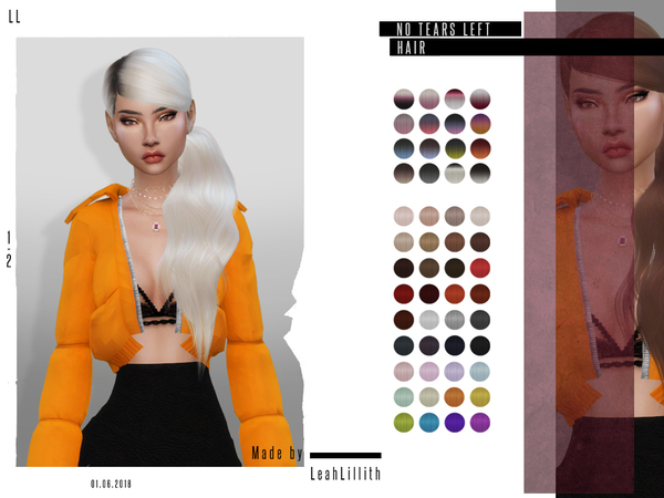 No Tears Left Hair by LeahLillith at TSR image 85 Sims 4 Updates