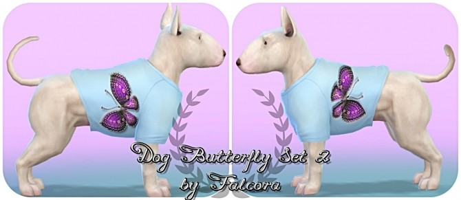 Butterfly set 10x set 2 For small dog at Petka Falcora image 8512 670x291 Sims 4 Updates