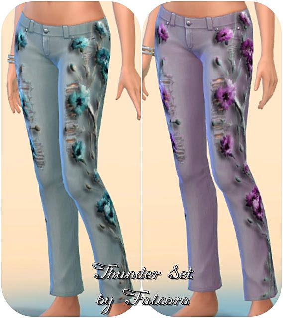 Thunder set 10x jeans at Petka Falcora image 8514 Sims 4 Updates