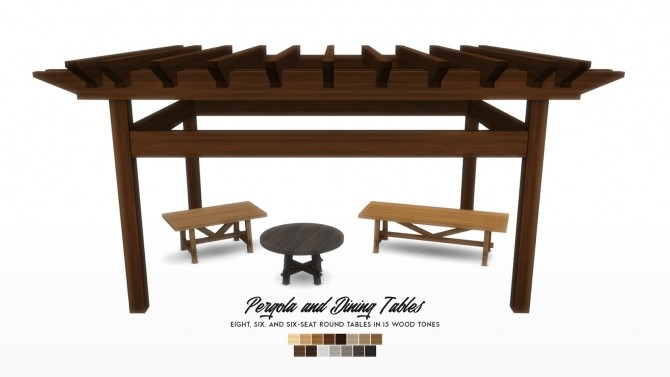 Oasis Chic Dining Outdoor Furniture Set at Simsational Designs image 8515 670x377 Sims 4 Updates