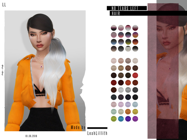 No Tears Left Hair by LeahLillith at TSR image 86 Sims 4 Updates