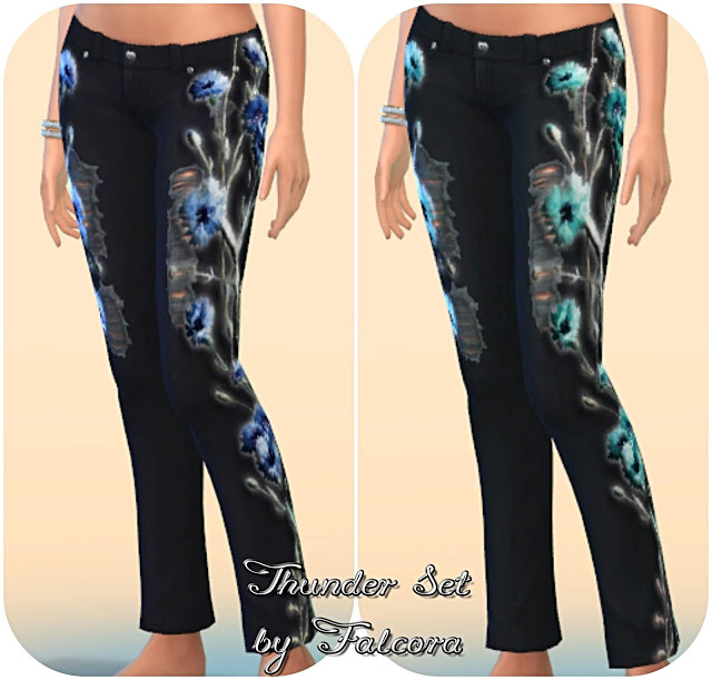 Thunder set 10x jeans at Petka Falcora image 8614 Sims 4 Updates