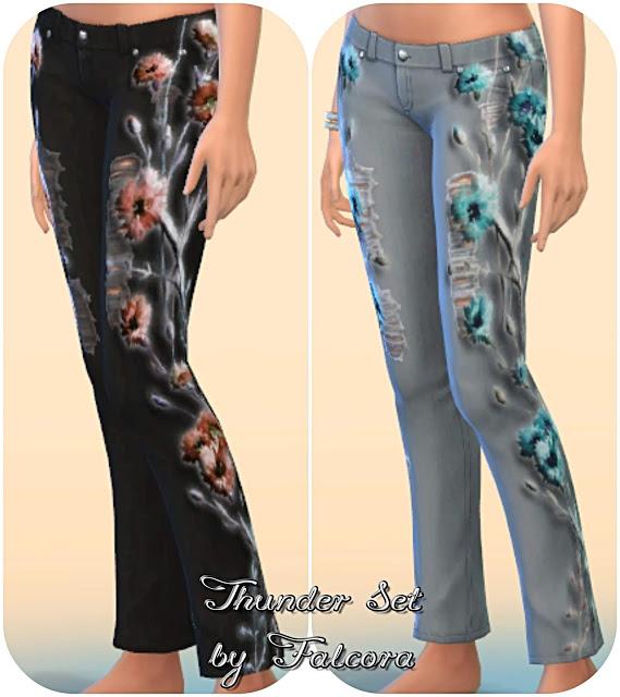 Thunder set 10x jeans at Petka Falcora image 8713 Sims 4 Updates