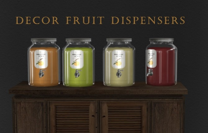 Sims 4 Fruit Dispensers at Leo Sims