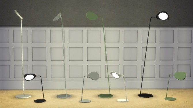 Sims 4 Leaf Lamp Collection at Meinkatz Creations