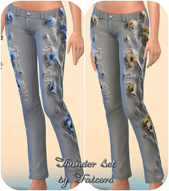 Thunder set 10x jeans at Petka Falcora image 8814 Sims 4 Updates