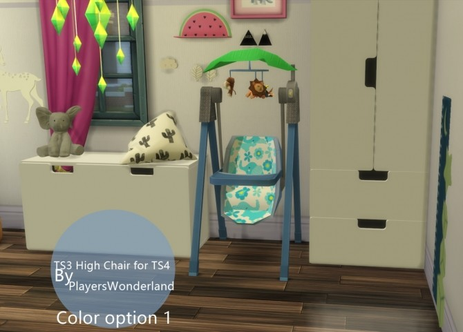 Sims 4 TS3 High Chair converted to TS4 by PlayersWonderland at PW's Creations