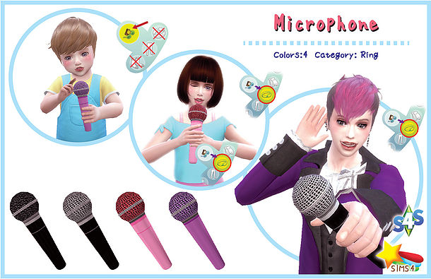 Microphone Set at A luckyday image 889 Sims 4 Updates