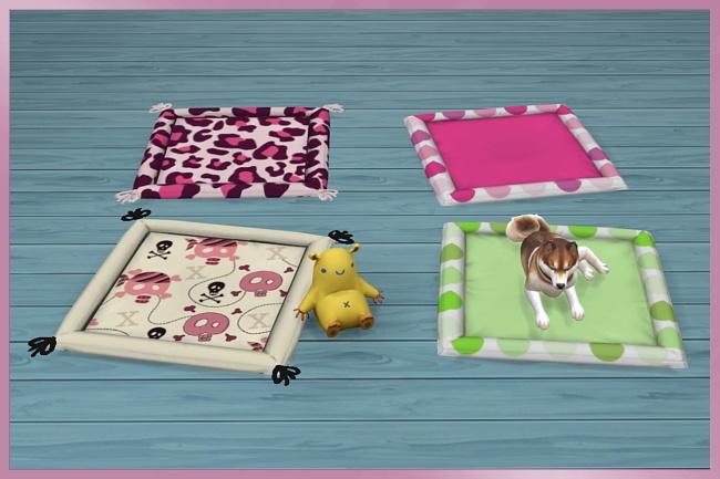 Sims 4 Kimba Pet bed XL by Cappu at Blacky's Sims Zoo