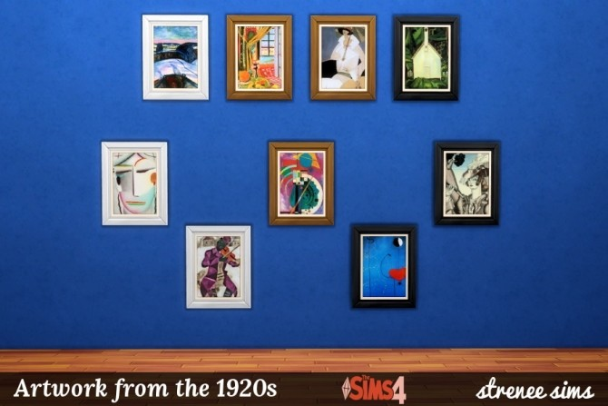 Sims 4 Art Series Artwork from the 1920  1940s at Strenee Sims
