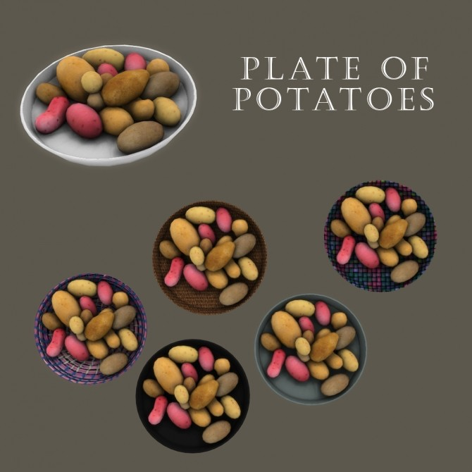 Sims 4 Plate Of Potatoes at Leo Sims