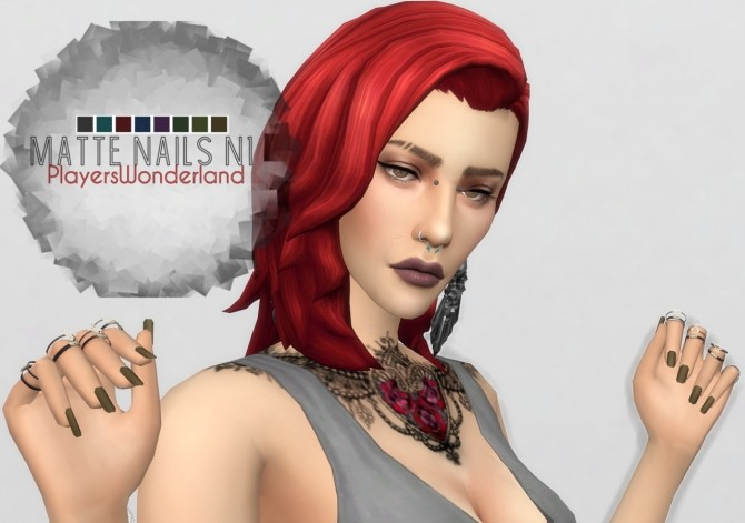 Matte Nails by PlayersWonderland at PW's Creations image 908 670x471 Sims 4 Updates
