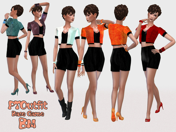 Sims 4 PT Oufit by Bree miles at TSR