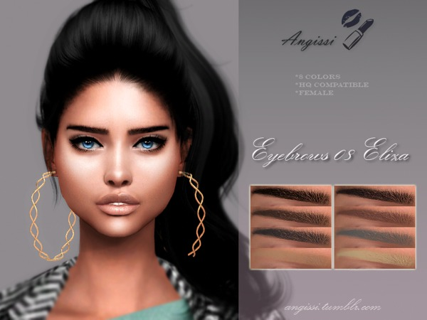 Sims 4 Eyebrows 09 Eliza by ANGISSI at TSR