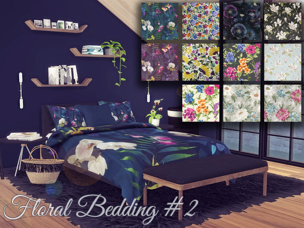Floral Bedding 2 by Sooky at TSR image 9105 Sims 4 Updates
