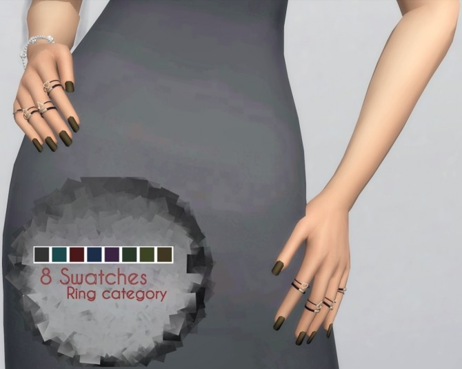 Matte Nails by PlayersWonderland at PW's Creations image 9112 670x535 Sims 4 Updates
