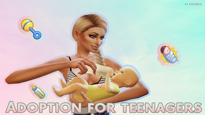 Sims 4 Adoption For Teenagers mod at MSQ Sims