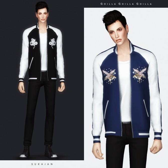 Sukajan jacket at Gorilla image 912 670x670 Sims 4 Updates