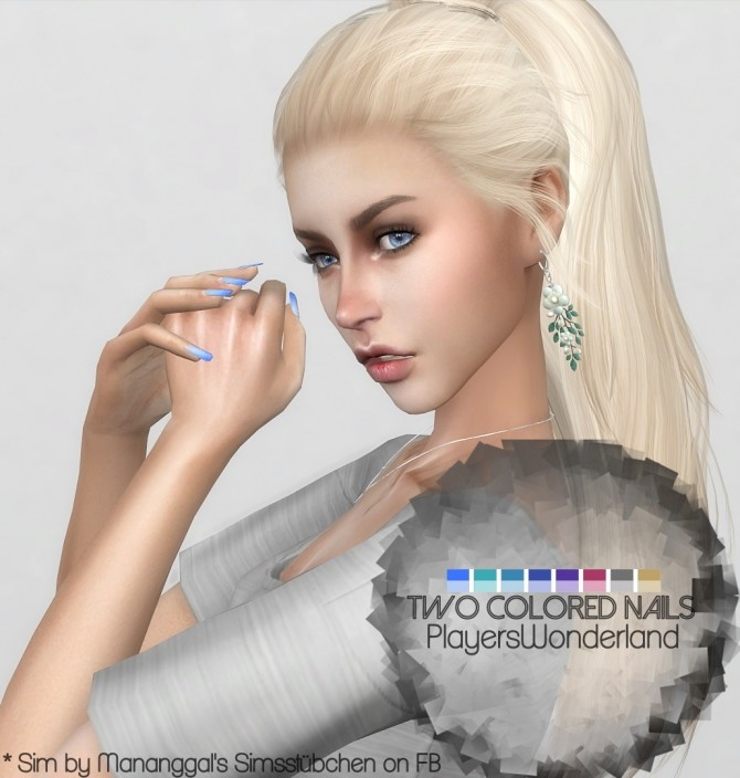 Two Colored Nails by PlayersWonderland at PW's Creations image 9210 670x704 Sims 4 Updates
