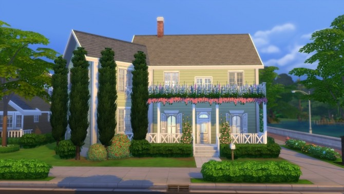 Sims 4 4348 Wisteria Lane house by LianZiemas at Mod The Sims