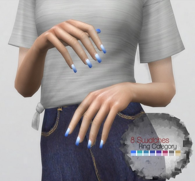 Two Colored Nails by PlayersWonderland at PW's Creations image 938 670x621 Sims 4 Updates