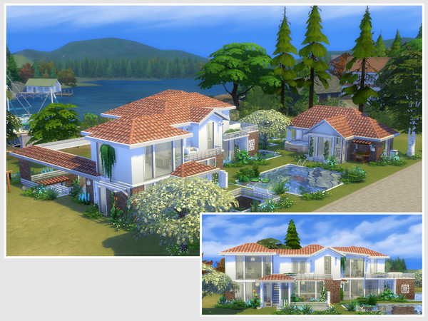 Sims 4 Bloomfeld house by philo at TSR