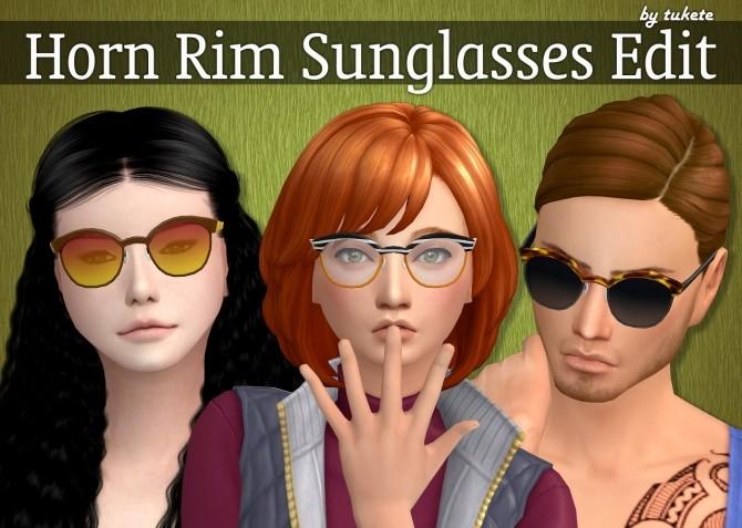 Seasons Horn rimmed Eyeglasses Edit at Tukete image 9416 670x477 Sims 4 Updates