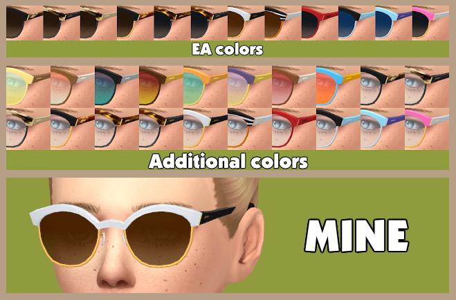 Seasons Horn rimmed Eyeglasses Edit at Tukete image 9517 Sims 4 Updates