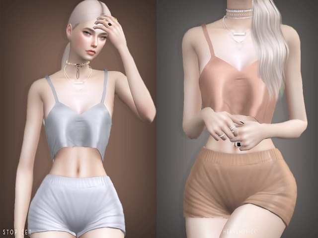 Sims 4 Stop set Top and Bottom at Heavendy cc