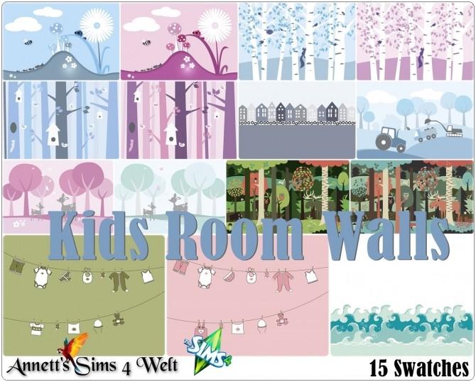 Sims 4 Kids Room Walls at Annett's Sims 4 Welt